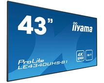 "Image de iiyama 42.5"" LED 4K Ultra HD Noir affichage de messages (LE4340UHS-B1)"