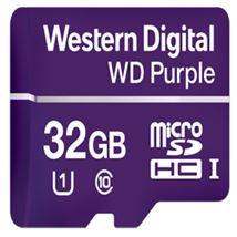 Image de Western Digital Purple mémoire flash 32 Go MicroSDHC Clas ... (WDD032G1P0A)
