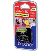 Image de Brother ruban d'étiquette Noir sur jaune (M-K621B)