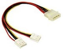 Image de C2G 5.25in/3.5in Internal Power Y-Cable Molex 2x 4-Pin Mini Soc ... (81846)