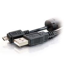 Image de C2G 1.0m USB 2.0 câble USB 1 m USB A Micro-USB B Noir (81700)