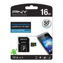 Image de PNY Performance mémoire flash 16 Go MicroSDHC Classe ... (SDU16GPER50-EF)