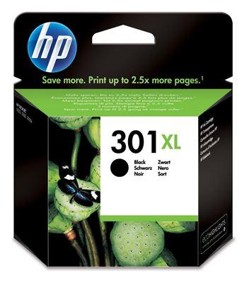 Image sur HP Cartouches d'encre HP 301 301XL cartouche d'encre noir gra ... (CH563EE)