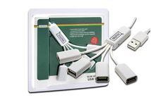Image de Digitus Slim Spider USB Hub, 4 x USB A Female (DA-70216)