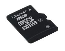 Image de Kingston Technology mémoire flash 8 Go MicroSD (SDC4/8GB)