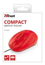 Image de Trust 1000 dpi, 3 buttons, Red souris (21793)