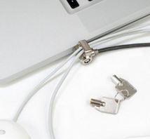 Image de Maclocks  Noir, Argent câble antivol (CL15)