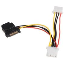 Image de StarTech.com Câble d'alimentation adaptateur SATA vers LP ... (LP4SATAFM2L)