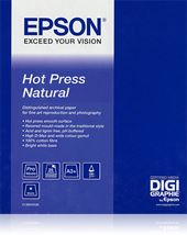 Image de Epson Hot Press Natural papier jet d'encre A2 (420x594 mm) ... (C13S042322)
