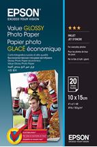Image de Epson Value Glossy Photo Paper - 10x15cm - 20 Feuilles (C13S400037)
