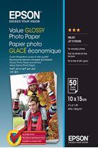 Image de Epson Value Glossy Photo Paper - 10x15cm - 50 Feuilles (C13S400038)