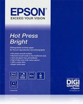 Image de Epson Pap Hot Press Bright 25f. A2 (0.420x0.594m) 330g (C13S042332)