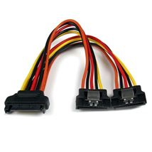Image de StarTech.com Câble répartiteur en Y d'alimentation SATA ver ... (PYO2LSATA)