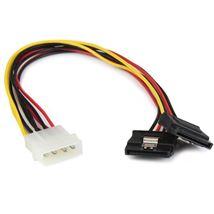 Image de StarTech.com Câble adaptateur d'alimentation interne LP4 ... (PYO2LP4LSATA)