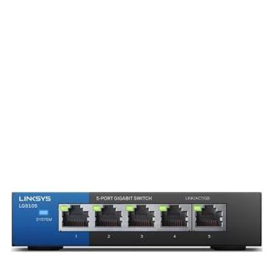 Image sur Linksys LGS105 Non-géré Gigabit Ethernet (10/100/1000) ... (LGS105-EU-RTL)