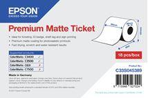 Image de Epson Rouleau d'étiquettes Premium Matte 80mm x 50mm pour ... (C33S045389)