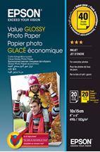 Image de Epson Value Glossy Photo Paper - 10x15cm - 2x 20 Feuilles ... (C13S400044)