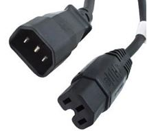 Image de Origin Storage 2m C14M-C15F power cable (CAB-C14M-C15F-2M)