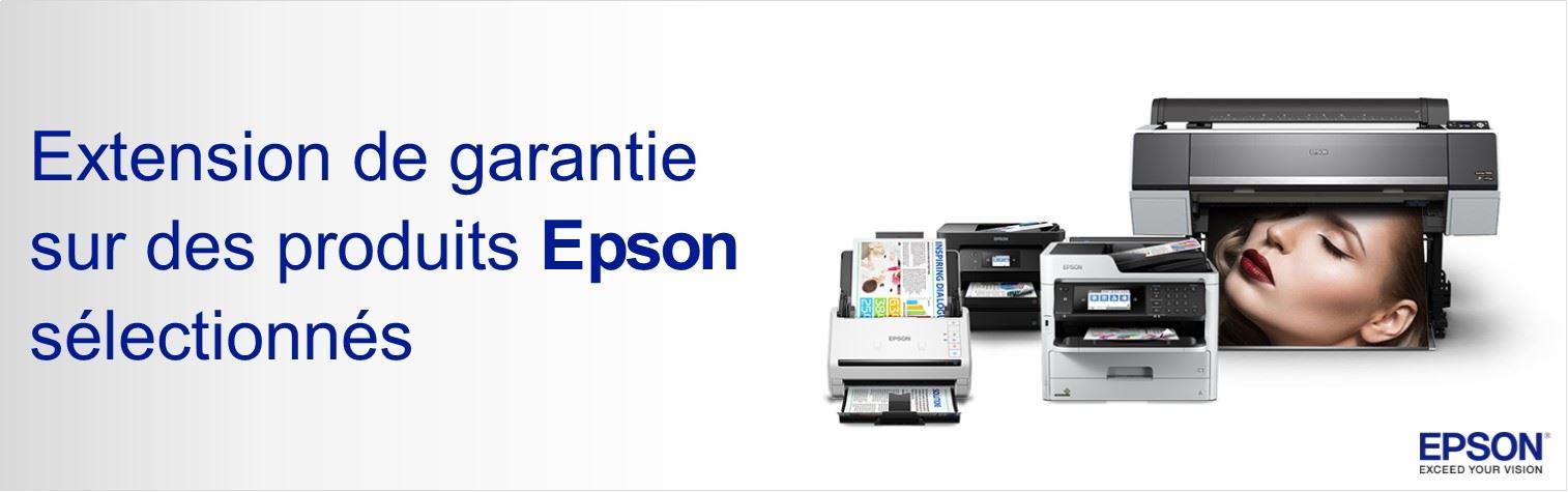 Extension de garantie offerte sur des produits EPSON
