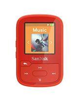 Image de Sandisk  MP3 16Go Rouge lecteur et enregistreur MP3 ... (SDMX28-016G-G46R)