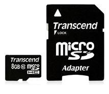 Image de Transcend  microSDHC 8GB mémoire flash (TS8GUSDHC10)