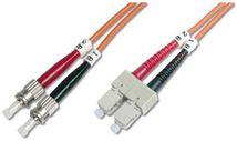 Image de Digitus Fiber Optic Patch Cord, Duplex, ST/SC MultiMode, O ... (DK-2612-01)