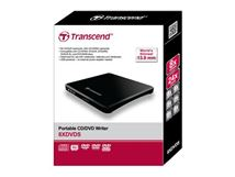 Image de Transcend  DVD±R/RW Noir lecteur de disques optiques (TS8XDVDS-K)