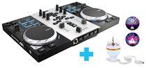 Image de Hercules Air S Party Pack 2canaux Noir, Argent contrôleur DJ ... (4780871)