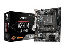 Image de MSI A320M-A PRO Emplacement AM4 Micro ATX AMD A320 (7C51-001R)