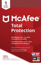 Image de McAfee Total Protection 01-Device BE (MTP00MNR1RAAB)
