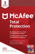 Image de McAfee Total Protection, 3 Devices (Dutch / French) Lo ... (MTP00MNR3RAAB)