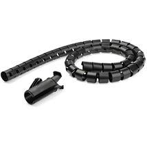 Image de StarTech.com Gaine spirale range-câble Noir - 1,5 m - Diamè ... (CMSCOILED)