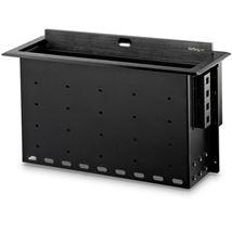Image de StarTech.com range-câbles Boîtier de câbles Bureau Noir 1 ... (BOX4MODULE)