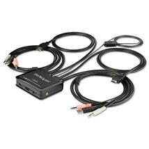 Image de StarTech.com Commutateur KVM HDMI à 2 ports avec câbles i ... (SV211HDUA4K)