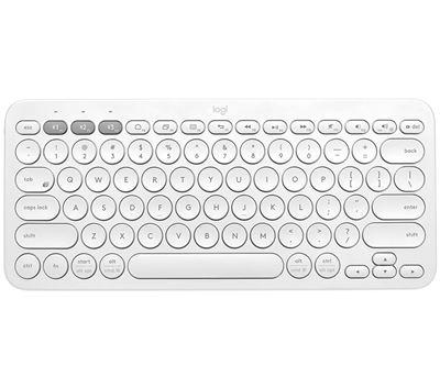 Image sur Logitech K380 clavier Bluetooth AZERTY Français Blanc (920-009586)