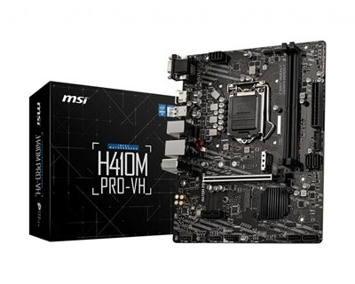 Image sur MSI carte mère LGA 1200 Micro ATX Intel H410 (H410M PRO-VH)