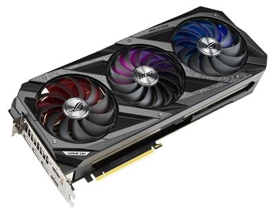 Image sur ASUS ROG NVIDIA GeForce RTX 3080 OC 10GB 10 Go GDDR6X (90YV0FA1-M0NM00)