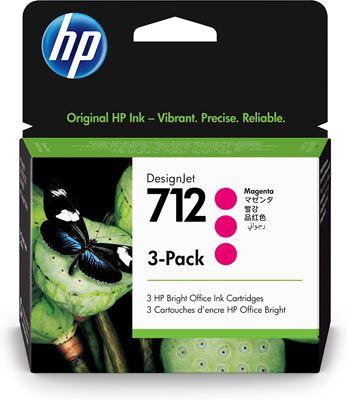 Image sur HP 712 Original Magenta 3 pièce(s) (3ED78A)