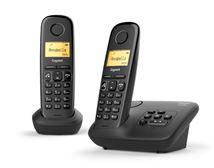 Image de Gigaset A270A DUO Analog/DECT telephone Noir Ident ... (L36852-H2832-M201)
