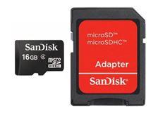 Image de Sandisk 16GB MicroSDHC w/adapter mémoire flash 16 G ... (SDSDQM-016G-B35A)