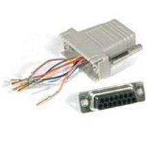 Image de C2G RJ45/DB15F Modular Adapter DB15 FM Gris (81537)